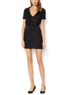 Sheath Dress with Silk Combo Lapel by Mackage at Gilt