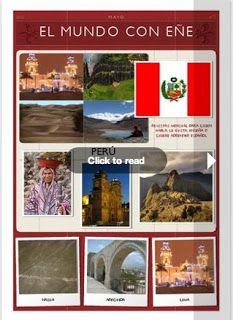 EL MUNDO CON EÑE, una revista bimensual para estudiantes de español. Cada número está dedicado a un país de habla española e incluye un audio con ejercicios de comprensión. http://www.delearte.com/p/el-mundo-con-ene-revista-gratuita.html