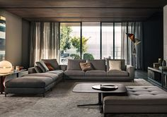 Minotti Italian furniture completely encompasses luxury and style. Minotti is only available in Calgary at Shaun Ford & Co. Living Room Modern, Living Room Interior, Home Living Room, Living Room Designs, Living Room Furniture, Living Room Decor, Living Spaces, Living Room Lounge, Dining Room