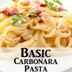 Rachael Ray: Basic Pasta Carbonara Recipe with Pancetta