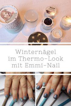 [Nägel] winterliches Nageldesign mit Emmi-Nail