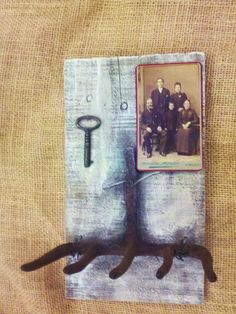 Antique Hanging Key Holder Old Iron Farm Tool Old by RagtagStudio, $25.00