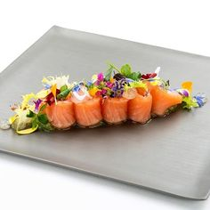 """If you like gin tonic and salmon, then the """"Gin Tonic Salmon"""" at our Saltz restaurant is just the right thing for you, especially on warm summer days! Gin And Tonic, Salmon, Yummy Food, Restaurant, Meals, Dining, Summer Days, Tuna, Cooking"""