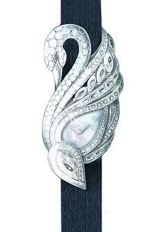 Diamond Watches Collection : Master Horologer: Graff Luxury Watches - Swan Secret Watch - Watches Topia - Watches: Best Lists, Trends & the Latest Styles Swan Jewelry, Bird Jewelry, Animal Jewelry, Jewelry Art, Unique Jewelry, Jewelery, Vintage Jewelry, Jewelry Bracelets, Fashion Jewelry