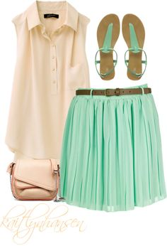 cute skirt, created by kaitlynhansen on Polyvore