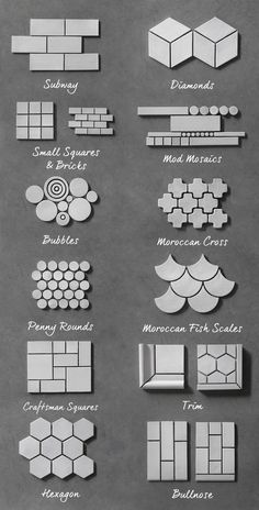 Guide - Our Shapes & Sizes -Tile Guide - Our Shapes & Sizes - mozaic tiles kichen tiles decorative bathroom wall tiles, View mozaic tiles, Sino Cheer Product Details from Nan'an Sinocheer Building Material Co. on Alternatives to White Subway Tile Mosaic Art, Mosaic Tiles, Wall Tiles, Marble Mosaic, Tiling, Subway Tiles, House Tiles, Decor Interior Design, Interior Decorating