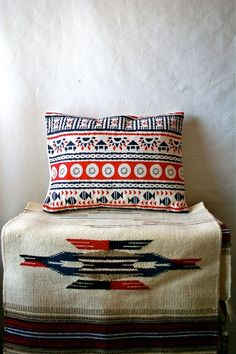 Loving these Native American patterns on vintage textiles, by Blue Flower Vintage.