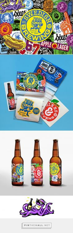 Swedish Brewing Co packaging design by Mattias Lundin - http://www.packagingoftheworld.com/2017/01/swedish-brewing-co.html