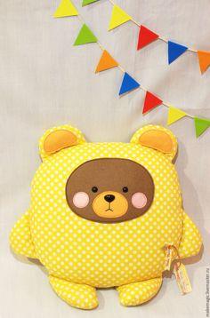 """Купить Подушка-игрушка """"Обнимашка"""" Лиса, Волк, Медведь. - комбинированный, лиса, волк, медведь, медвежонок"""