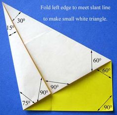 Toys from Trash - great tutorial for making a paper protractor