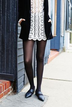 Evermore Opaque Tight | Classic opaque tights.