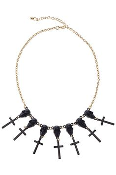 #Romwe Skull & Cross Pendant Necklace