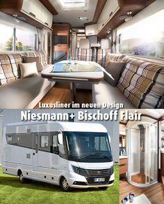 Seit neuestem hüllt sich die Topbaureihe von Niesmann + Bischoff in ein attraktives neues Kleid: Hier kommt der neue Luxusliner Flair.   #Wohnmobil #Luxusmobil #Glamping