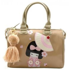 Geisha Applique Tote Bag