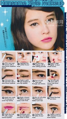 Handsome Style Makeup tutorial from the July 2013 issue of Zipper.  I know about the typo yeah sorry.,