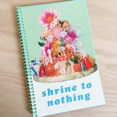 Shrine to Nothing- Spiral Notebook 60 unlined pages- blue and cream colors