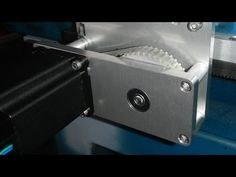 CNC Routing 9.5mm 6061 Aluminium Plate - Adjustable Nema 24 Motor Plates - YouTube