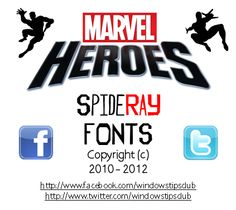 Marvel Heroes character silhouettes font - free for non-commercial use.