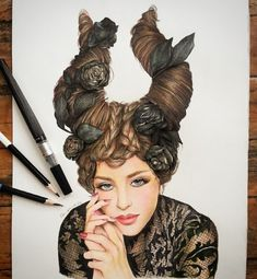 Awesome Colored Pencil Works by Thailand artist Froy Kantida Color Pencil Sketch, Pencil Art, Copic Drawings, Tech Art, Marilyn Monroe Art, Colored Pencil Techniques, Colouring Pages, Love Art, Handmade Art