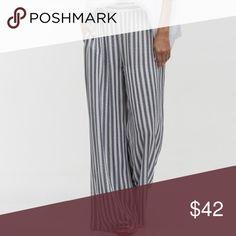 Black and White Stripe Rayon Pant Black and white Stripe rayon pant size Small 2/4 - made in the USA . 100% Rayon. Pants Wide Leg
