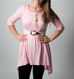 Asymmetrical Tops, Dusty Pink, Pink Tops, Tunic Tops, Belt, Boutique, Clothes, Women, Style