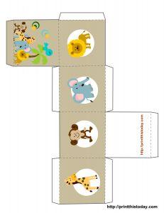 free printable favor box template