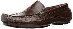 Rockport Men's Luxury Cruise Center Stitch Slip-On Loafer, Brown, W US - FrenzyStyle Casual Fridays, Mens Winter Boots, Cruise Collection, Summer Nights, Barefoot, Moccasins, Loafers Men, Soft Leather, Chelsea Boots