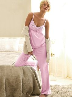 Eyelet Cami Pajamas from VS- I saw these in Kick Ass and I've been searching for them ever since!!!