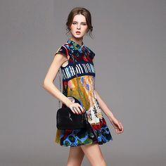 Sleeveless Turn-Down Collar Elegant Print Dress $210  ᴏʀᴅᴇʀ ɴᴏᴡ: ᴊᴜsᴛᴇʙᴏᴜᴛɪǫᴜᴇ@ɢᴍᴀɪʟ.ᴄᴏᴍ  #boutique #picoftheday #fashion #dress #istafashion #clothing #want #weheartit #online #newyork #bestofthebest #topquality #follow #heels #goodisgood #iwantone #forsale #unique #greatbuy #style #look #loveit #beauty #new #product #forsale #womensfashion #happybuyers #buyme #allmymoneygoestofashion