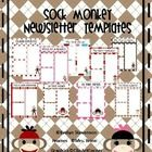 These cheerful sock monkey newsletters will help you get the word out about what is happening in your classroom!  This pack contains ten different ...
