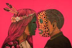 Saner Latin Artists, Mexico Art, Hippie Art, Arte Popular, Stencil Art, Keith Haring, Trippy, Illustrators, Backdrops