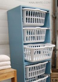 laundry bookshelf, yep gotta do this to!! Great space saver plus laundry can't get away so easily!!!!