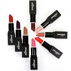 [Visit to Buy] Hot Sale Long Lasting Matte Velvet Lipstick Make Up Waterproof Makeup Lips Red Batom Nude Beauty Cosmetics Not Liquid Lipstick  #Advertisement