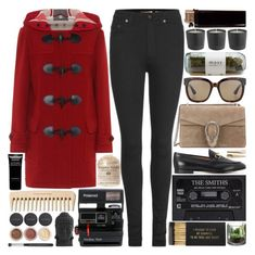 """Bring a friend who loves to play, we'll eat all the candy canes"" by pure-and-valuable on Polyvore featuring Burberry, Yves Saint Laurent, Gucci, Jayson Home, Polaroid, Givenchy, Bare Escentuals, Nearly Natural and Muuto"