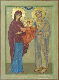 Holy Quotes, Holy Family, Orthodox Icons, St Joseph, Sacred Art, Ikon, Jesus Christ, Painting, Christian Paintings