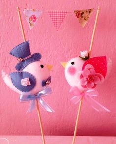 Topo de Bolo Passarinhos, Ideal para noivados, casamentos comemorações de meses de namoro R$ 60,00