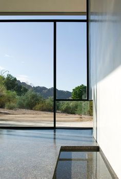 Detail from Planar House, Paradise Valley by Steven Holl Architects