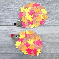 How to Make the Cutest Fall Hedgehog Craft Diy Fall Crafts diy easy fall paper craft Fall Paper Crafts, Fall Arts And Crafts, Crafts For Kids To Make, Fun Crafts, Art For Kids, Kids Fun, Simple Crafts For Kids, Fall Art For Toddlers, Autumn Art Ideas For Kids