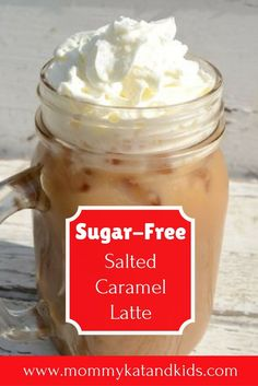 If you're looking for a delicious low-calorie coffee recipe, you've just found it. This creamy salted caramel latte is the perfect drink for a hot summer day and is low calorie thanks to Pure Via Stevia Liquid Sweetener. You'll definitely want to start yo Salted Caramel Latte Recipe, Sugar Free Starbucks Drinks, Sugar Free Coffee Syrup, Nespresso Recipes, Iced Latte, Coffee Recipes, Drink Recipes, Yummy Drinks, Stevia