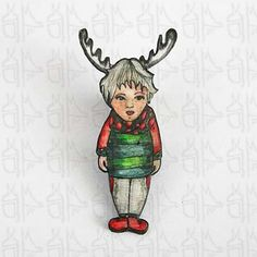 Broche personnage - Renne - Accessoires
