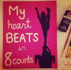 My heart beats in 8 counts
