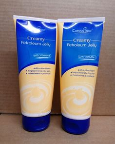 Creamy Petroleum Jelly Hand Cream for Dry, Rough Skin, 3 oz each (3 pack), Absorbs Quickly, Multi Pack, Softly Scented
