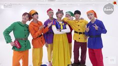 Bangtan and Snow white and the seven dwarfs