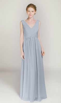 90fb2c0ece Pretty Long Chiffon Bridesmaid Dress with Cowl Neck TBQP457 in 2019 ...