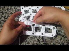 Ponto quadriculado em croche - YouTube