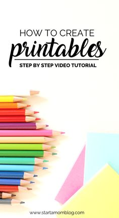 How to create printables to sell step by step tutorial using canva and powerpoint - how to make printables, freebies and opt ins to grow your email list and income Make Money Blogging, Make Money From Home, Make Money Online, How To Make Money, Blogging Ideas, Mon Budget, Inkscape Tutorials, Web Design, Media Design