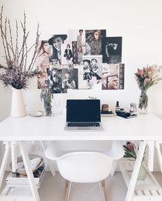 You won't mind getting work done with a home office like one of these. See these 20 inspiring photos for the best decorating and office design ideas for your home office, office furniture, home office ideas Mesa Home Office, Home Office Design, Home Office Furniture, Home Office Decor, Diy Home Decor, Office Ideas, Furniture Ideas, Office Designs, Office Inspo