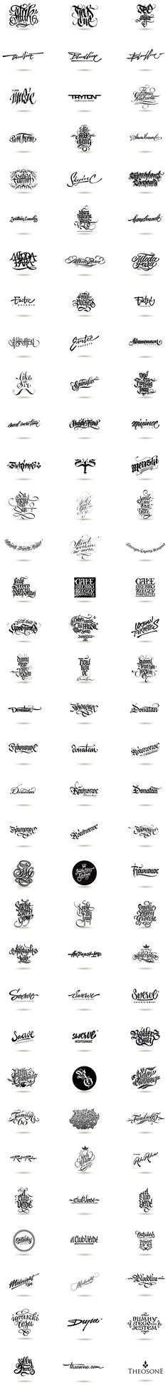 Logotype pack from 2010 - 2012 by Theosone