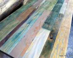 Custom Multi-Color Reclaimed Pallet Wood Side by HappyHomeAustin