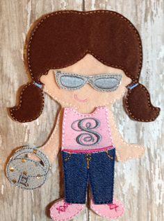 Rodeo Drive Shopper  Felt UnPaper doll  set by NettiesNeedlesToo, $10.00